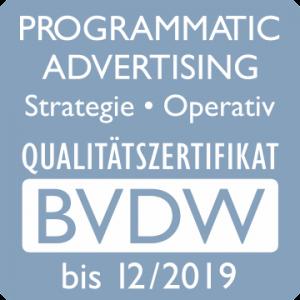 BVDW Programmatic Advertising Qualitätszertifikat 2018