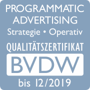 BVDW Programmatic Advertising Qualitätszertifikat 2018